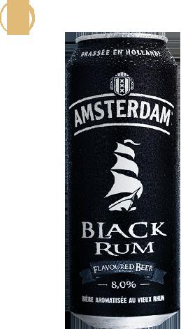 Black Rum alcool - Amsterdam beer